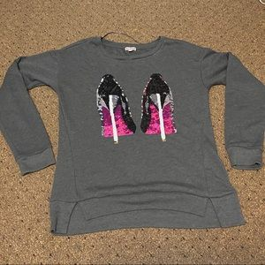 Juicy Couture Sequin High Heel Sweatshirt